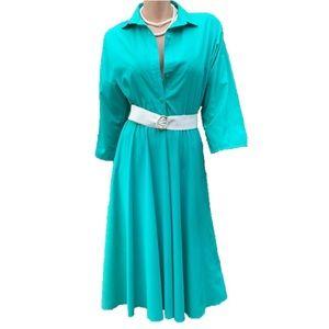 Green Shirt Dress Vintage